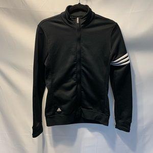 Adidas Black and White Stripes Jacket Size Small